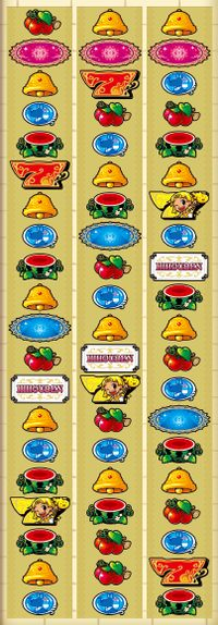 クレアの秘宝伝2 リール配列 打ち方 ベル スイカ チェリー 赤7 黄7 BAR ピラミッド 赤ピラ チャンス目